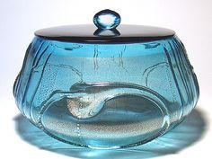 西中千人のガラス 茶道具 Mizusashi Glass Tea Implement , NISHINAKA YUKITO