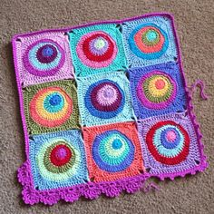 Offset Circles Blanket designed by Cypress Textiles (pattern for purchase on Ravelry and Craftsy)