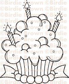 Digital stamp -- Cupcake - Candy. $2.50, via Etsy.  Great Digital Stamps