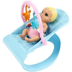 Barbie Nursery Playset with Skipper Babysitters Inc. Doll, 2 Baby Dolls, Crib and 10 Pieces of Working Baby Gear and Themed Toys, Gift Set for 3 to 7 Year Olds, Mattel Barbie, Baby Barbie, Baby Dolls, Barbies Dolls, Accessoires Barbie, Barbie Doll Accessories, Play Gym, 2nd Baby, Barbie Furniture