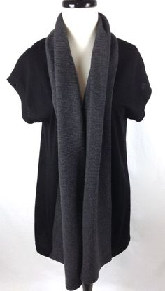 Banana Republic Sweater Black Merino Wool Cardigan Womens S #BananaRepublic #Cardigan