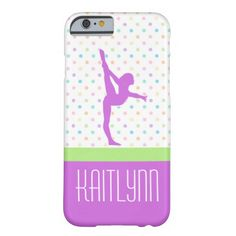 Pastel Dots Gymnastics iPhone 6 Case - personalize with your name!  #gymnastics #iphone6