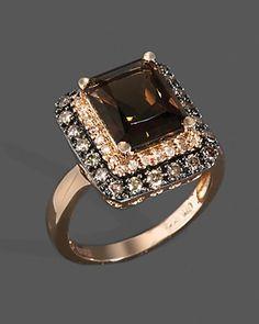 Diamond, Brown Diamond And Smoky Quartz Ring In Rose Gold Jewelry & Accessories - Fine Jewelry - Rings - Bloomingdale's Jewelry Gifts, Jewelry Accessories, Fine Jewelry, Wedding Accessories, Diamond Rings, Diamond Jewelry, Cartier Jewelry, Gold Jewelry, Jewlery