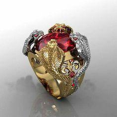 925 Bijoux En Argent Vintage Rubis Explosion Fashion Women/'s Open Ring