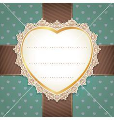 Valentine wedding card design vector on VectorStock®