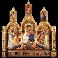 La coronación de la Virgen,86 de Lorenzo Monaco (1414).