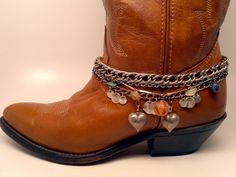 Boot Bracelet with vintage chains and charms by McIversRevivers, $25.00