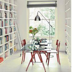Wohnideen  Arbeitszimmer Home Office Büro - Helle Studie mit Staumauern