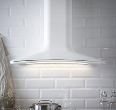 HARMONISK Dunstabzugshaube für Wandmontage, 85x47 cm, weiß € 699.-