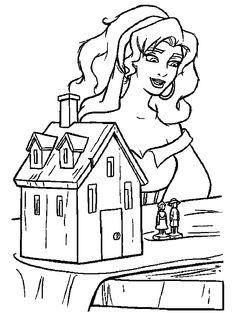 Hunchback Of Notre Dame Coloring Pages For Kids Graceful Esmeralda