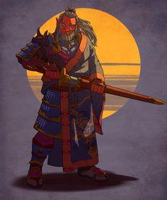 [OC][Art] Verann, Hobgoblin Fighter (Samurai) : Dungeons_and_Dragons Dungeons And Dragons Art, Dungeons And Dragons Characters, Dnd Characters, Fantasy Characters, Fantasy Character Design, Character Drawing, Character Concept, Concept Art, Hobgoblin
