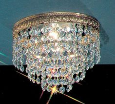 """Classic Lighting 51208-OWB 6"""" Crystal Flushmount from the Crystal Baskets Collec Crystalique-Plus Indoor Lighting Ceiling Fixtures Flush Mount"""