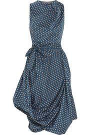 Vivienne Westwood Anglomania - Eight floral-print cotton-poplin dress Vivienne Westwood Kleider, Vivienne Westwood Clothes, Vivienne Westwood Anglomania, Satin Dresses, Day Dresses, Poplin Dress, Panel Dress, Draped Dress, Asymmetrical Dress