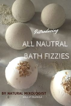 Green Tea with Lemongrass and Oatmeal and Goats Milk with Clove Bath Fizzies or Bath Bombs ..All natural and good for your skin