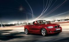 BMW 1 Series Convertible, Lucinda's car.  Red all over it