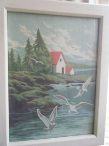 cottage by the sea paint-by-number