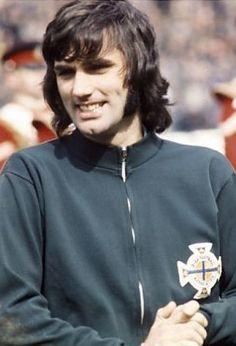 George Best Northern Ireland 1970 Northern Irish, Northern Ireland, Celtic Fc, European Cup, Mens Hair, Green Shirt, Manchester United, Besties, Hockey