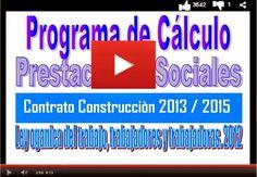 CALCULE SUS PRESTACIONES SOCIALES EN EL SECTOR CONSTRUCCIÓN