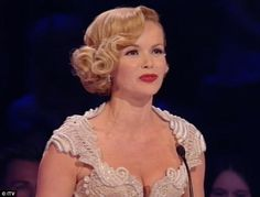 Britain's Got Talent final: Amanda Holden turns to glamour with curly bob. as Alesha Dixon divides viewers with risqué corset dress Short Spiky Hairstyles, 1940s Hairstyles, Curled Hairstyles, Pretty Hairstyles, Wedding Hairstyles, Glamorous Hairstyles, Amanda Holden, Bridesmaid Hair, Prom Hair