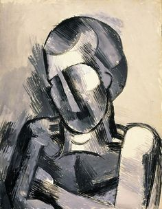 Pablo Picasso - Bust of man, 1909