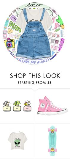 """""""loser"""" by xgracieeee ❤ liked on Polyvore featuring Marc Jacobs and Converse"""
