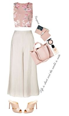 """""""Travel in Style'"""" by dianefantasy ❤ liked on Polyvore featuring Royce Leather, Topshop, Miss Selfridge, Corto Moltedo, MAC Cosmetics, Giorgio Armani and Alexandre Birman"""