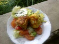 Karfiol v cestíčku Eggs, Vegetarian, Dishes, Meat, Chicken, Breakfast, Food, Gastronomia, Morning Coffee