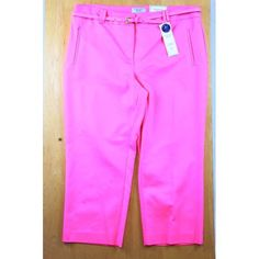 Charter Club pants Pink Charter Club pants with belt. Great condition. NWT Charter Club Pants