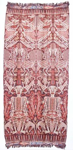 "Sumba Ikat, Indonesia, circa 1900. Size: 52"" x 112"" (132 x 284 cm). Provenance: From the private estate of Gloria Davis - anthropologist, te..."