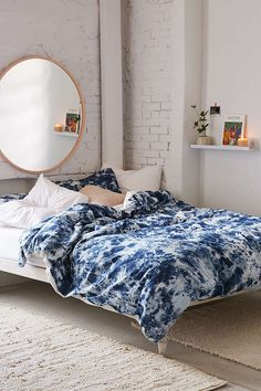 Denim Tie-Dye Duvet Cover | Urban Outfitters
