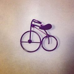 Vintage Bicycle Purple Brooch Pin Necklace by bodypartsandcrafts, $15.00