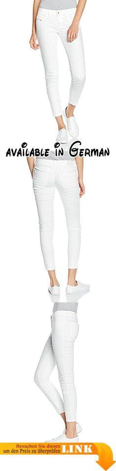 Diesel Damen Jeanshose Livier-Ankle-SP Pantaloni, Weiß (100), W31/L32 (Herstellergröße: 31). Stil: Straight Leg #Apparel #PANTS