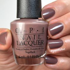 Squeaker of the House is a soft mid toned brown polish with a touch of purple. New from the OPI Washington DC Collection 2016 (Fall/ Winter). Nail Lacquer, Opi Nail Polish, Glamour Nails, Body Makeup, Hot Nails, Mani Pedi, How To Do Nails, Health And Beauty, Hair Beauty