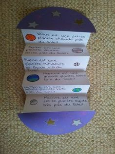 Foldables as learning tool. This could be used to teach sequence as well! :) sequence integrated with science.the planets. 4th Grade Science, Elementary Science, Science Classroom, Teaching Science, Science Activities, Science Projects, School Projects, Solar System Projects, Earth And Space Science