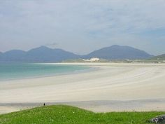 Luskentyre Beach from the South, Isle of Harris, Scotland Land Of The Brave, Isle Of Harris, West Coast Scotland, Outer Hebrides, Scottish Islands, Nice View, Beautiful Beaches, Beautiful World, Places To See