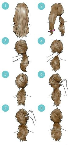 Great Pic Simple daily hairstyles step by step for girls Gym route . Tips Each hair has its quality, and can be individually carried. You can find therefore many sweet hair Easy Everyday Hairstyles, Daily Hairstyles, Easy Hairstyles For Medium Hair, Girl Hairstyles, Braided Hairstyles, Gym Hairstyles Easy, Step By Step Hairstyles, Hairdos, Wedding Hairstyles