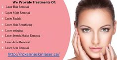The RoxanneSkinLaser.ca in West Vancouver offers a variety of discounted laser treatments for mole, hair, facials and laser scar removal. With over 15 years experience Dr. Roxanne also specialize in all your laser removal treatments and skincare products needs. Get offer at: http://roxanneskinlaser.ca/specials/