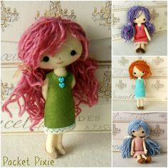 Pocket Pixie pdf Pattern Instant Download by Gingermelon on Etsy, $12.50