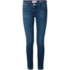 Frame Denim 'Jeanne Le' skinny jeans ($310) ❤ liked on Polyvore