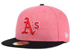 Oakland Athletics New Era Red Black New Era MLB The Eaton 59FIFTY Cap  e17438398e9
