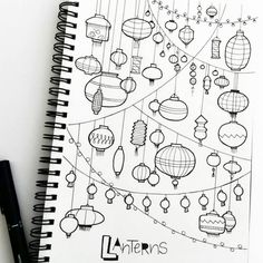 #tbt to a page full of lanterns.. A drawing from last year  @__apsi…