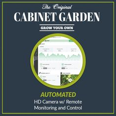 Automated Cabinet Garden™ with HD Camera and Remote Monitoring and Control. #hydroponic Home Growing Solution. #hydroponics #aeroponics #superponics #homegrow #homegrown #urbanfarmer #urbanfarm #urbanfarming #diy #doityourself #farmtotable #growyourown #growyourownfood #organic #eatwhatyougrow #vegetables #herbs #fruit #germination #plants #instagardenlovers #instagarden #grow #hydro #growbox #growroom #growcabinet #growcloset #CabinetGarden