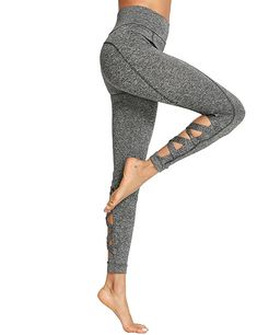 59a108fa855f SweatyRocks Women s Cutout Leggings Skinny Yoga Pants Runing Jogger Active  Tight (Medium