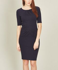 Look what I found on #zulily! Navy Be Mine Pleat Dress #zulilyfinds