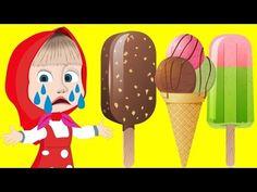 Маша и медведь потеряли мороженое на море и плачут, мультфильм для детей все новые серии - YouTube