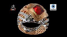 ZBrush 4r7 (zmodeler) 3d modeling Ring
