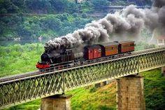 "Old steam train, ""Linha do Douro"", Portugal. Douro Portugal, Visit Portugal, Portugal Travel, Algarve, Old Steam Train, Portugal Holidays, Douro Valley, Steam Railway, Train Art"