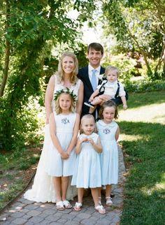 seersucker flower girl dresses, monogram flower girl dresses from nautical navy Virginia Tides Inn Wedding with crab wedding details