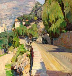 Carl Moll.   Küstenstraße bei Rapallo