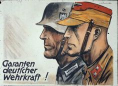 """Germany Hans Schweitzer, known as """"Mjolnir.""""Famous One of the most famous artists behind Nazi propaganda. Ww2 Posters, Nazi Propaganda, German People, Most Famous Artists, Iraq War, German Army, World War I, American History, Illustrator"""